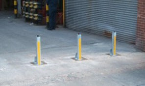 Security bollards fitted to drives as theft deterrent