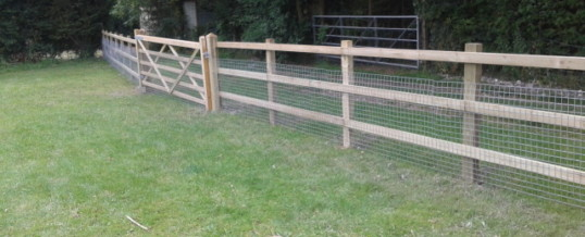Post and Rail with Field Gate – Swaffham Prior